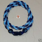 Phiten Tornado Necklace Custom: New Navy/Carolina Blue