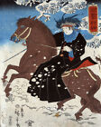 1529 .Winter painting. Lady riding horse quality POSTER. Asian Decorative Art.