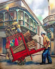 1580 Street vendor selling brooms & mops Vintage POSTER. Decorative Art.Seller