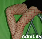 Admcity Lycra Spandex Double Fence Net Pantyhose Tights Red Black One Size