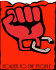 1669 Power to the People, red fist triggered Vintage POSTER. Decorative Art.