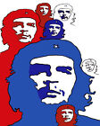 1992 Ernesto Che Guevara blue red and white paint quality POSTER.Decorative Art.