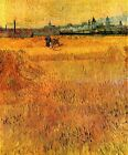 "Vincent Van Gogh- Arles View from the Wheat Fields - 20""x26"" Art on Canvas"