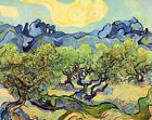 "Vincent Van Gogh- Landscape with Olive Trees - 20""x26"" Art on Canvas"