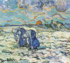 """Vincent Van Gogh- Two digging a grave in the snow  - 20""""x26"""" Art Canvas"""