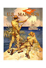 "US Marines Signaling - 20x32"" Military Recruiting Poster on Canvas"