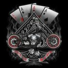 ACES LET IT RIDE CHOPPER SPADE POKER BIKER LONG SLEEVE T SHIRT M TO 4X
