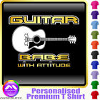 Acoustic Guitar Babe With Attitude 3 - Music T Shirt 5yrs - 6XL by MusicaliTee