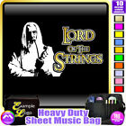 Cello Lord Of The Strings Gandalf - Sheet Music & Accessories Bag by MusicaliTee