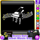 Piano Curved Stave - Sheet Music & Accessories Personalised Bag by MusicaliTee