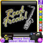 Sax Tenor Reed Freak - Sheet Music & Accessories Personalised Bag by MusicaliTee