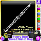 Clarinet Picture With Your Words - Sheet Music & Accessories Bag by MusicaliTee