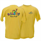 """Peace Frogs Classic """"Retro"""" T-Shirt Daisy Yellow Unisex Style Love Happiness NEW"""