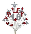 BIRTHDAY CAKE TOPPER DECORATION:1st,13th,16th,18th,21st,30th,40th,50th,60th,70th