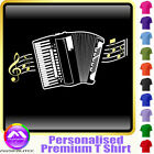 Accordion Curved Stave - Personalised Music T Shirt 5yrs-6XL MusicaliTee 2