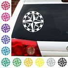 """nautical compass rose star key west  decal car graphic 6"""" in many colors"""