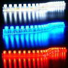 12v Waterproof 24/48/72/120 LED Car Ribbon Strip Light Aquarium Fish Tank+UK PSU