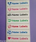 50 Stick on School Waterproof Identity Property Name Labels Stickers Tags