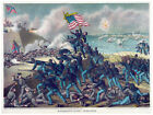 Decor War Poster.Fine Graphic Art. Storming Fort Wagner. Home Wall Design 1229