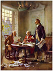 Decor 1800's Poster. Fine Graphic Art. Act of Independence. Wall Design 1416