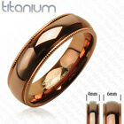 Solid Titanium Coffee Color Ring Wedding Size 5,9,10,11,12,13,14 (f23)