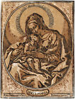 Mother Mary Decorative Religious Poster. Graphic Art. Wall Interior Design. 2306