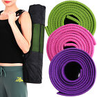 "4mm Diet Yoga Pilates Color Mat Pad 24"" X 68"" gym workout Non Slip + Yoga Bag"