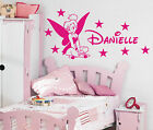Tinkerbell Personalised girls bedroom wall sticker kit, loads of colours