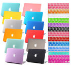 "2014 Rubberized Hard Case +Keyboard Cover for Macbook Pro 13/15"" Air 11/13""inch"