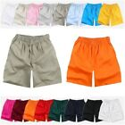 Mens Athletic Training Running plain Shorts w/ Elastic Waist Sport Pants 16color
