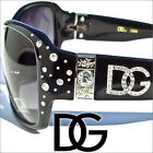 DG Sunglasses Womens Rhinestones Black Designer Shades