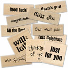 DOVECRAFT rubber wooden SENTIMENT occasion stamp choose from 6 designs