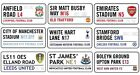 Official Football Club Stadium Metal Street Signs Gift Premier League