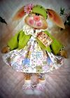 "Primitive Raggedy~""Daisy McTulip""~PATTERN #206 by Ginger Creek Crossing"