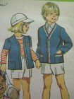 Vintage Simplicity PANTS w/ DETACHABLE SUSPENDERS CARDIGAN Sewing Pattern Child