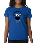 Cookie Monster Cartoon Dubstep Music DJ Face Ladies Tee Shirt