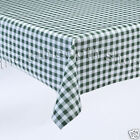 GREEN GINGHAM VINYL Plastic Patio Table Protector Cover