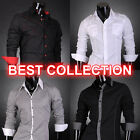 Designer Slim Fit Mens Shirts Top Dress Casual S M L XL Stylish T Collection