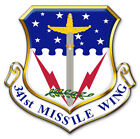 STICKER USAF 341ST MISSLE WING