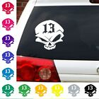 13 Lucky Skull Vinyl decal rock punk evil edgy sticker.