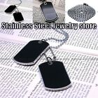Army Style Black 2 Dog Tags Chain Beauty Mens Pendant Necklace free shipping N33
