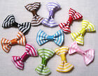 LOT 5 Appliques NOEUDS Papillon Ruban RAYURE 30mm couture scrapbooking Barrette