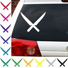 Crossed knives Iron chef cook sous chef cutlery sharpning decal sticker car