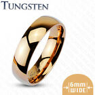 Tungsten Carbide Rose Gold IP Wedding Band Ring Size 5,6,7,8,9,10,11,12,13(f187)