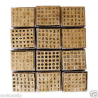 Alphabet  mini rubber STAMPS LETTERS wooden SET of 30
