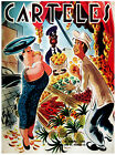 "180.Quality interior Design poster""Rich woman buys Tropical Fruits""Humor."