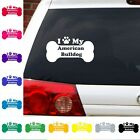 I Heart Love My American Bulldog decal sticker