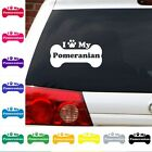 I Heart Love My Pomeranian decal sticker