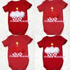 Infant Newborn Baby Optional Rose Jumpsuit Red White Polka Dots Cupcake NB-12M