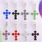 5pcs/20pcs Rhinestone Nice Cross Charm Pendants 9 Colors M4208 28x15.5mm 8360-68